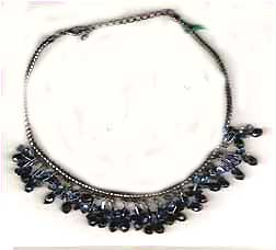 Best wholesale jewelry, round snake chain necklace with multi beaded dangles