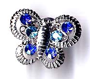 Butterfly jewelry importer, butterfly fashion pin with blue cz